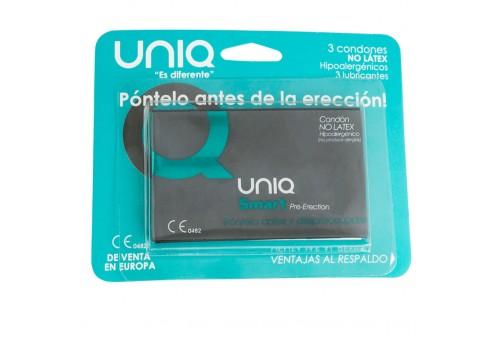 uniq smart pre erección preservativo sin latex 3uds