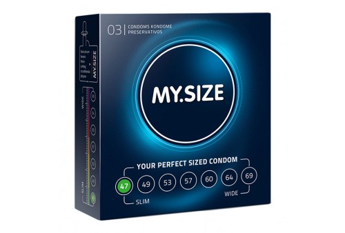 my size natural condom latex 47mm 3uds
