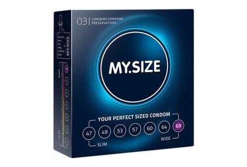 my size natural condom latex 69 mm 3 uds