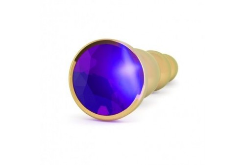 rich r3 gold plug metal anal purple saphire 12cm