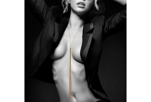 bijoux magnifique collar latigo de cadenas metálicas