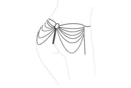 magnifique joya de cadenas metálicas para la cintura plateada