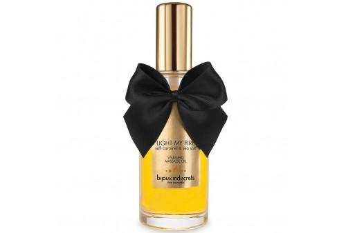 bijoux aceite masaje efecto calor aroma caramelo