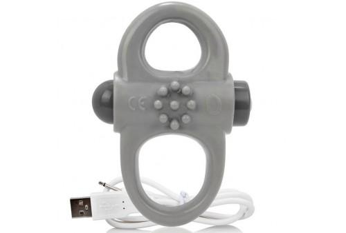 screaming o anillo vibrador recargable yoga gris