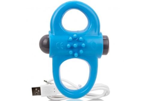 screaming o anillo vibrador recargable yoga azul