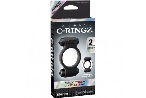fantasy c ringz magic anillo doble silicona vibrador negro