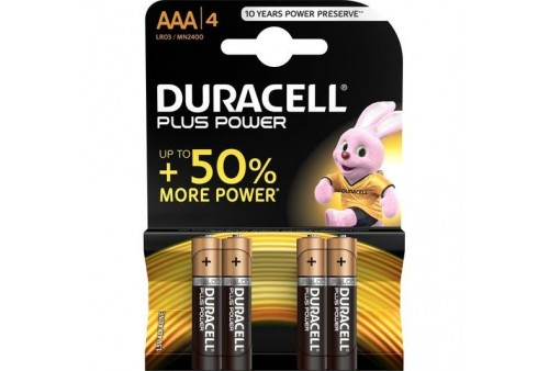 duracell plus power pila alcalina aaa lr03 blister4