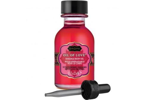 kamasutra oil of love aceite comestible especial preliminares fresas 22 ml