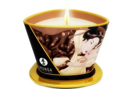 shunga mini caress by candelight vela masaje chocolate 170ml