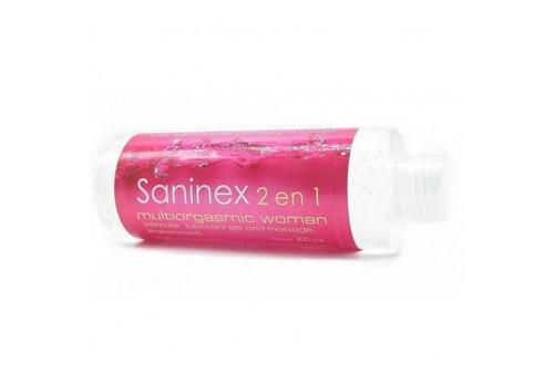 saninex 2 en 1 gel lubricante multiorgasmico mujer
