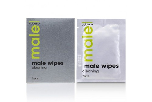 cobeco male wipes toallitas higienicas 6 x 25ml