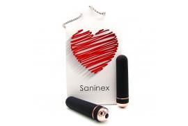 saninex orgasmic elegance negro y dorado 13 cm