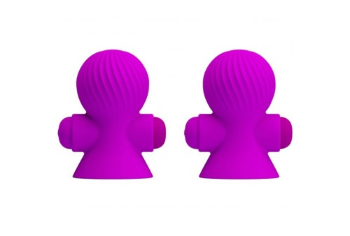pretty love estimuladores pezones 12m vibración lila