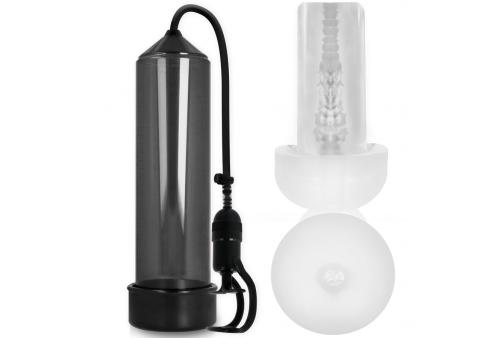 pump addicted bomba erección rx5 black con masturbador