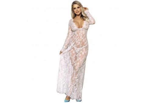 subblime vestido largo manga larga blanco s m