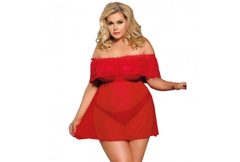 subblime queen plus vestido corto tanga rojo