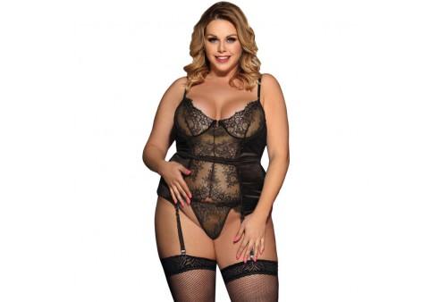subblime queen plus corset de encajes central