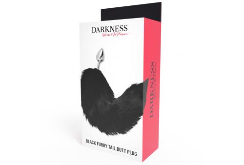 darkness plug anal silver 8cm con cola negro