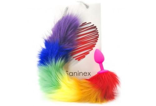 saninex sensation plug con cola arcoiris