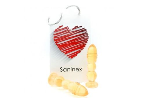 saninex delight plug dildo transparente naranja