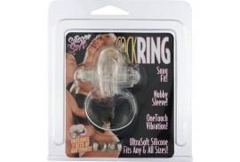 sevencreations anillo vibrador de silicona transparente