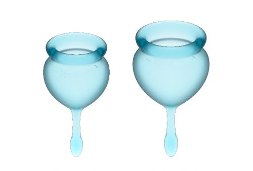 satisfyer feel good kit copa menstrual azulclaro 1520ml