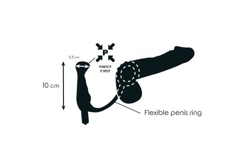 addicted toys vibrador prostático recargable negro 10 cm
