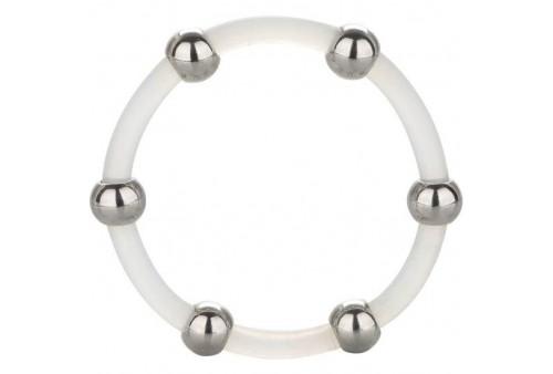calex anillo de silicona con cuentas de acero talla xl