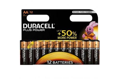 duracell plus power pila alcalina aa lr6 blister12