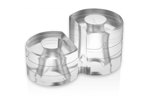 powering super flexible y resistente anillo pene doble pr12 clear