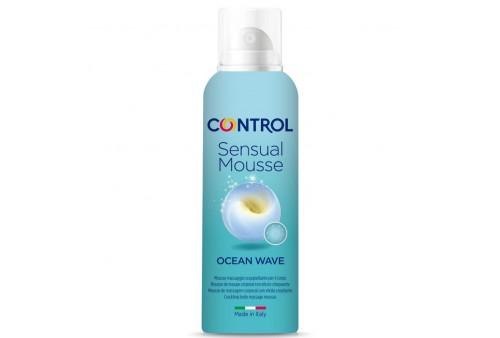 control crema masaje mousse sensual wave 125 ml