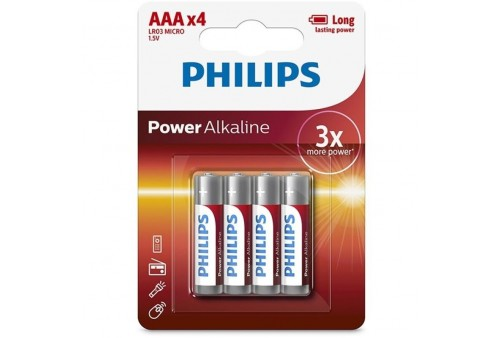 philips power alkaline pila aaa lr03 blister4