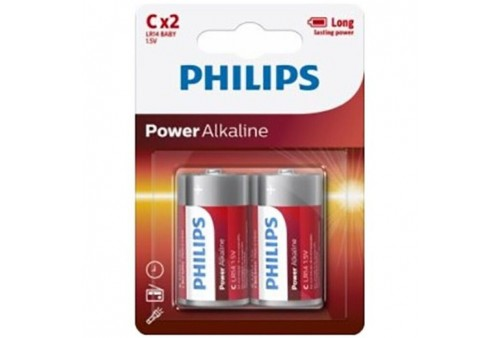 philips power alkaline pila c lr14 blister2