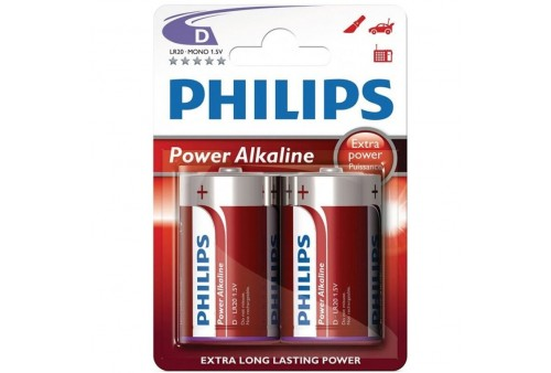 philips power alkaline pila d lr20 blister2