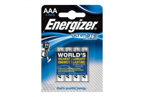 energizer ultimate lithium pila litio aaa l92 lr03 15v blister4