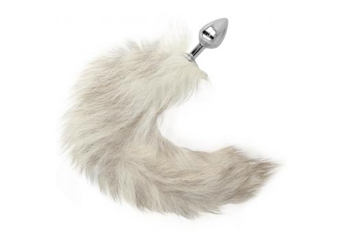 plug anal 7 cm con cola blanca 40 cm