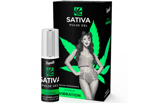 coquette pulse gel sativa vibración extrema premium 6ml