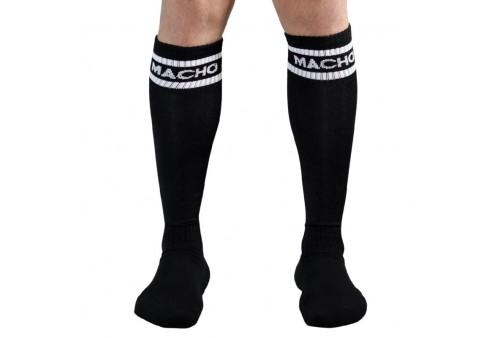 macho calcetines largos talla unica negro