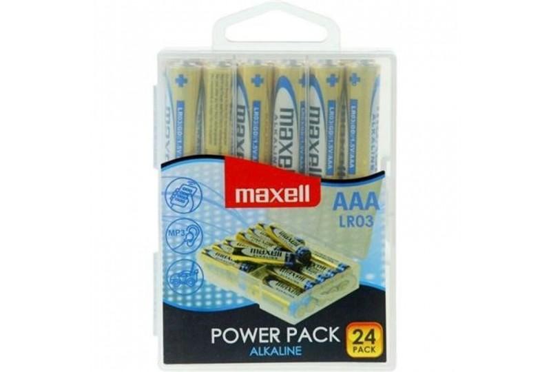 maxell pila alcalina aaa lr03 pack24 pilas
