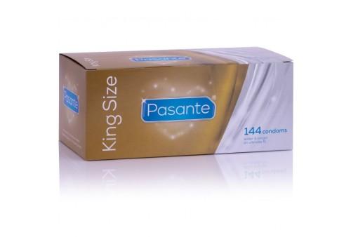 pasante preservativos king más largos y anchos caja 144 unidades