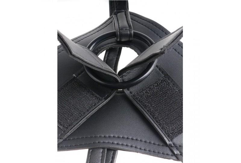 king cock harness con pene realistico marron 203 cm