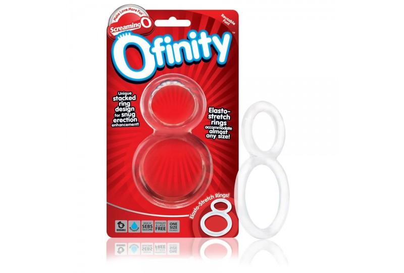 screaning o ofinity anillo doble transparente