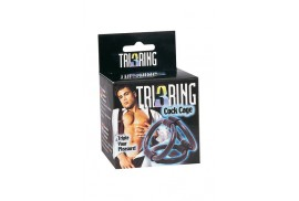 tri ring cock anillos pene y testiculos negro