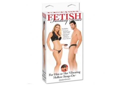 fetish arnes hueco vibrador para el y ella natural 14cm