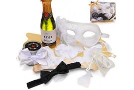kit erótico blanco mascara veneciana