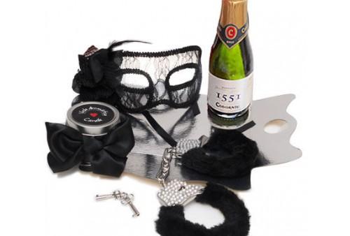 kit erótico negro mascara veneciana