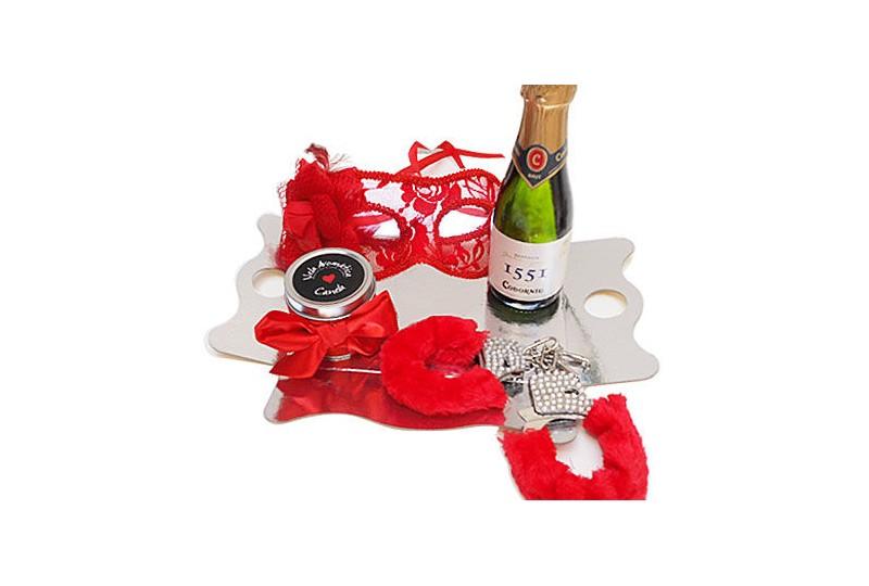 kit erótico rojo mascara veneciana
