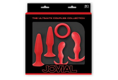 nmc jovial ultimate anal box kit 5 pcs red