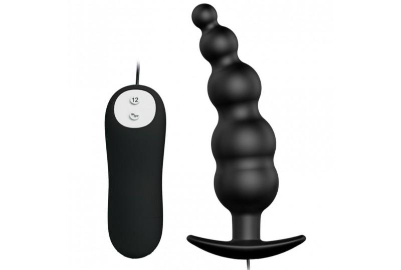 pretty love plug anal silicona estimulacion extra y 12 modos vibracion negro