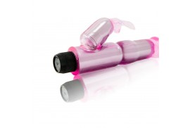 vibrador c estimulador rosa regulable